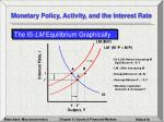 monetary policy activity and the interest rate18