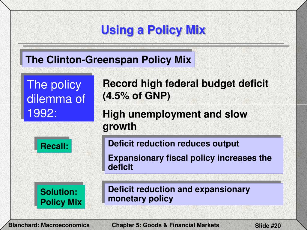The policy dilemma of 1992: