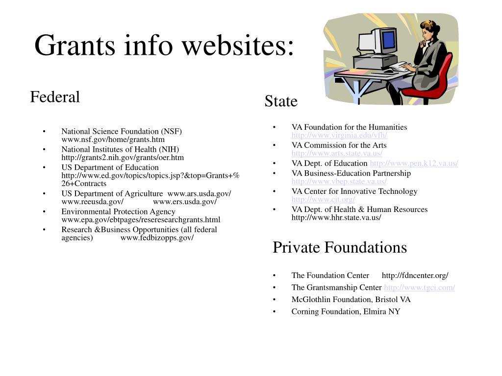 National Science Foundation (NSF) www.nsf.gov/home/grants.htm