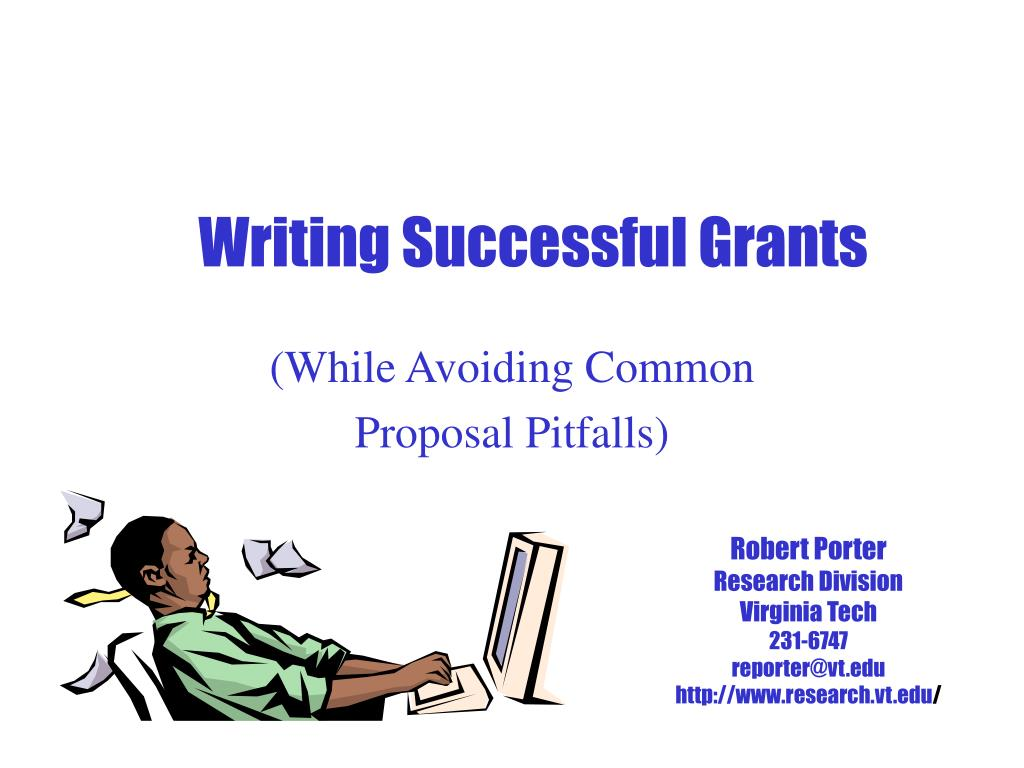 writing successful grants