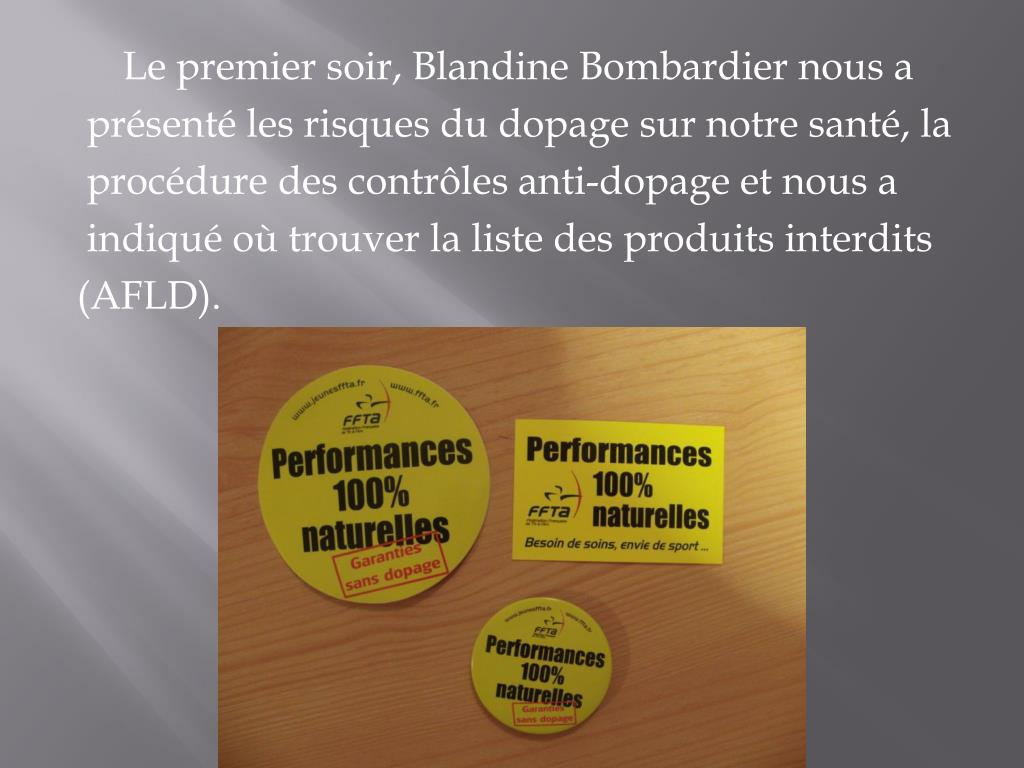 Le premier soir, Blandine Bombardier nous a