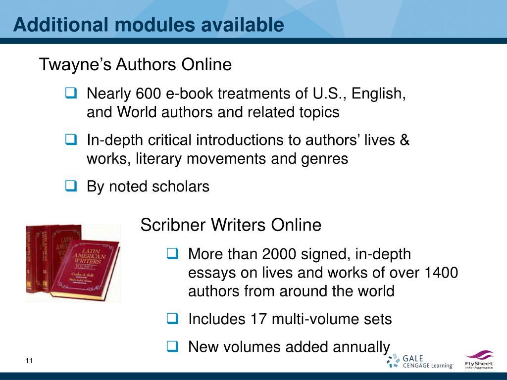 Scribner Writers Online