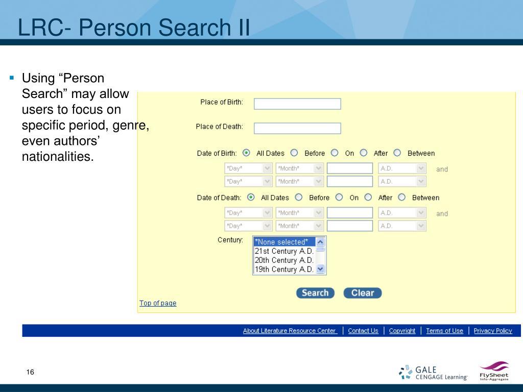 LRC- Person Search