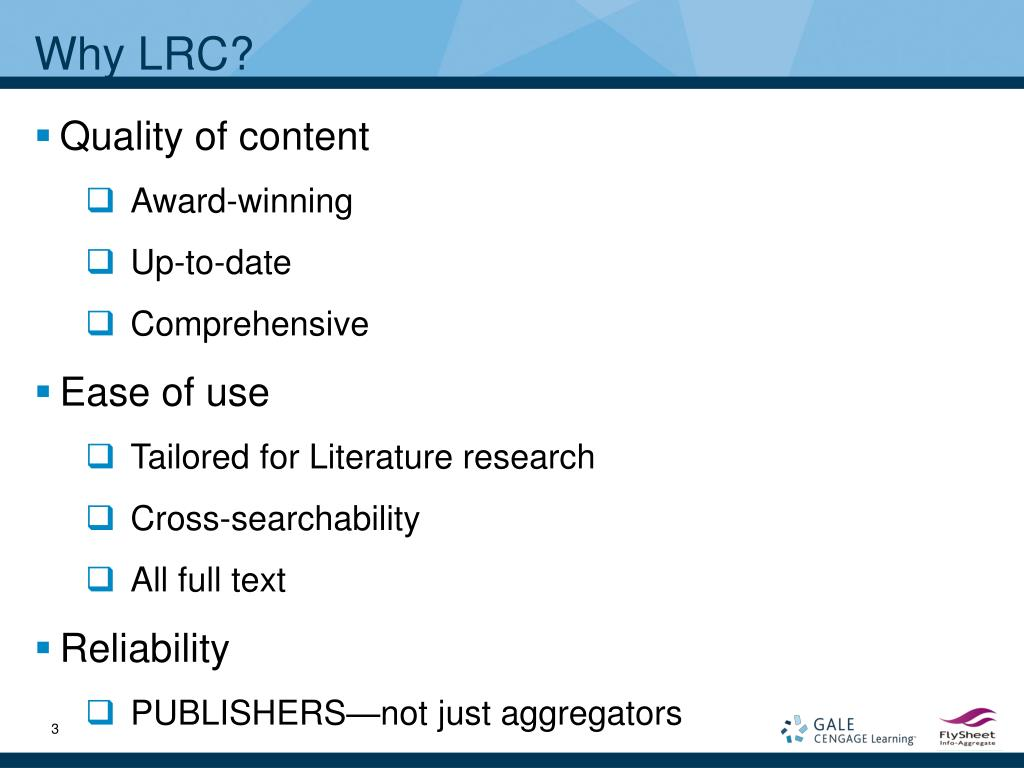 Why LRC?