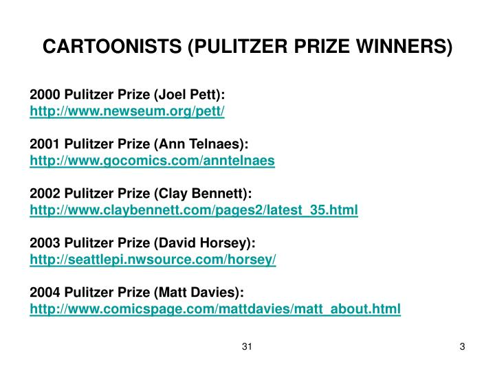 Cartoonists pulitzer prize winners