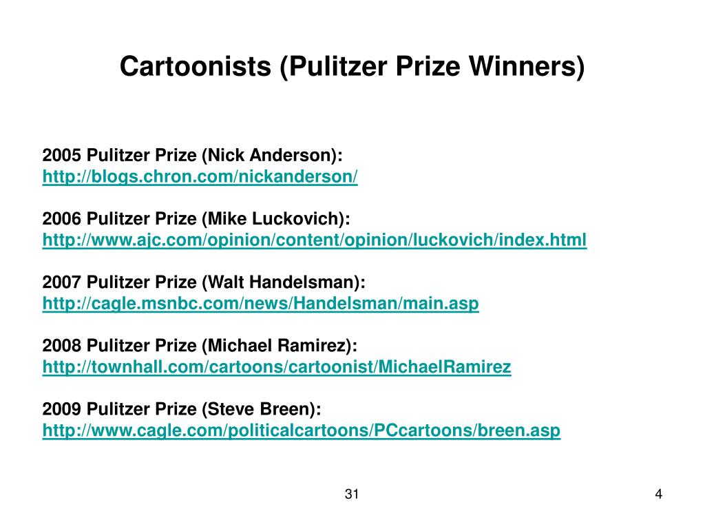 Cartoonists (Pulitzer Prize Winners)
