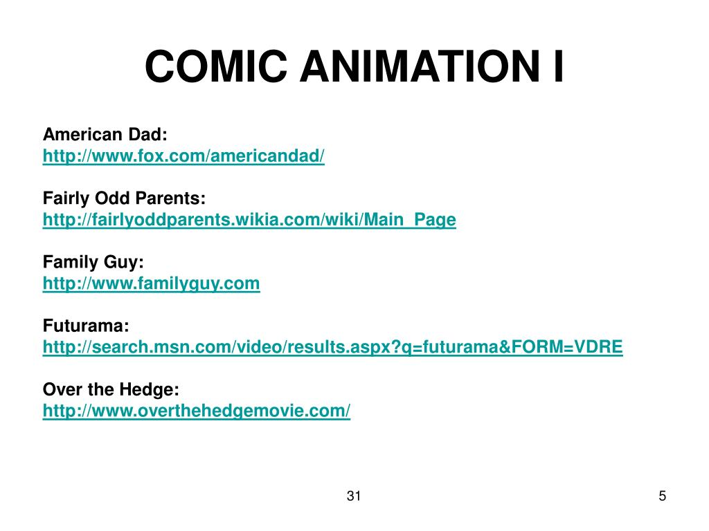 COMIC ANIMATION I