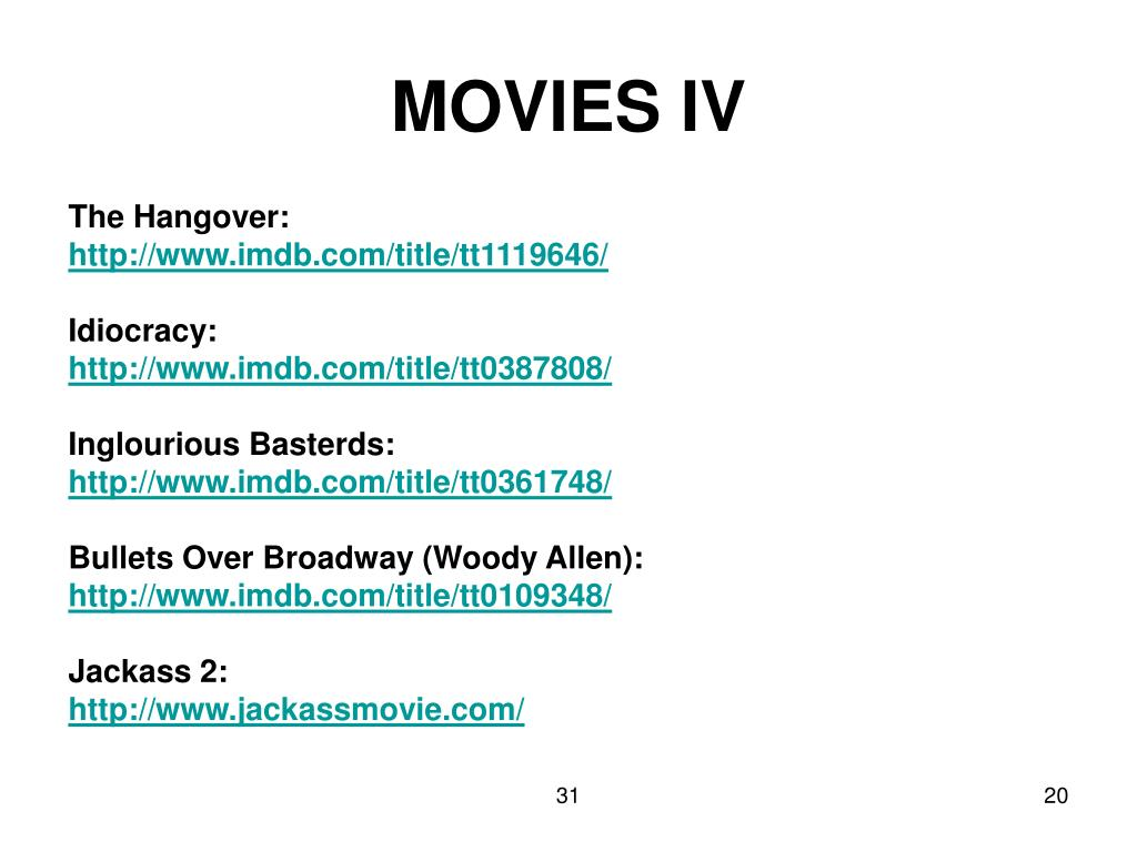 MOVIES IV