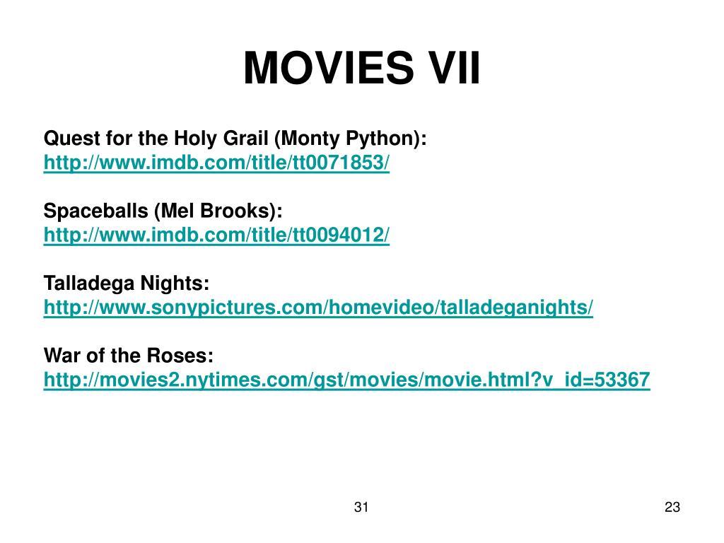 MOVIES VII