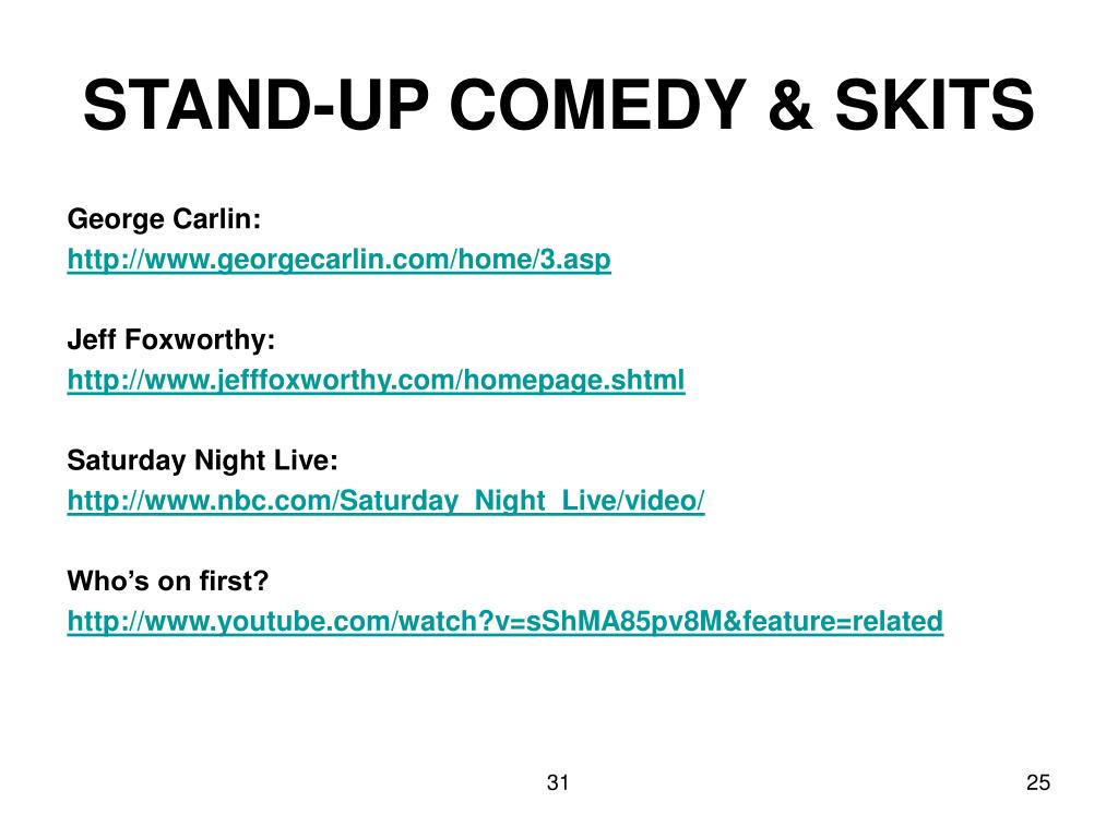 STAND-UP COMEDY & SKITS