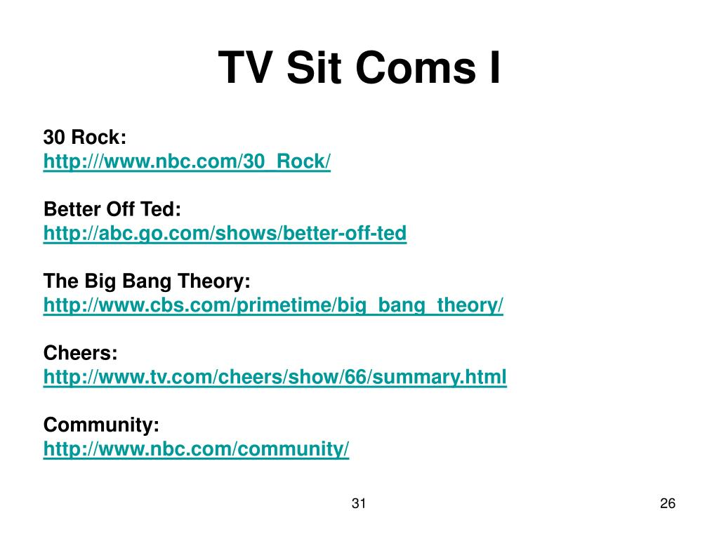 TV Sit Coms I