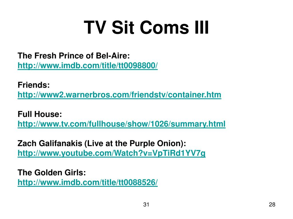 TV Sit Coms III
