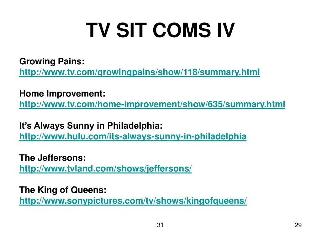 TV SIT COMS IV