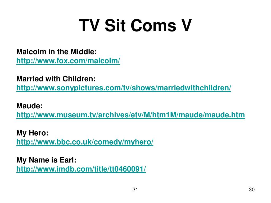 TV Sit Coms V
