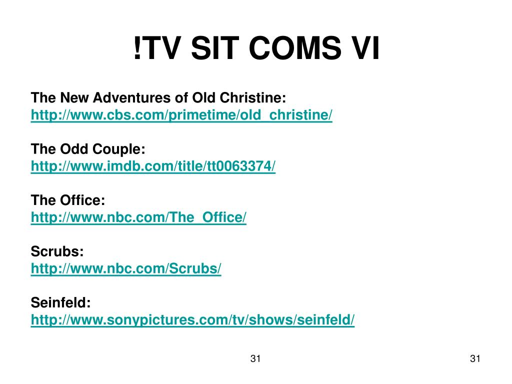 !TV SIT COMS VI