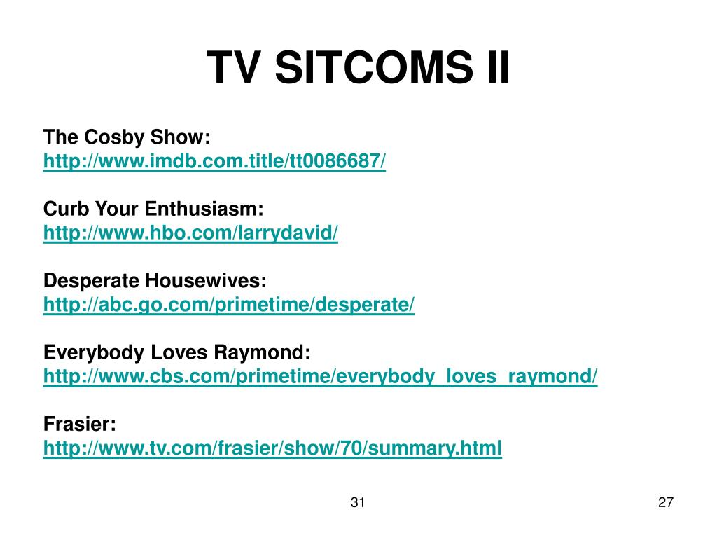 TV SITCOMS II