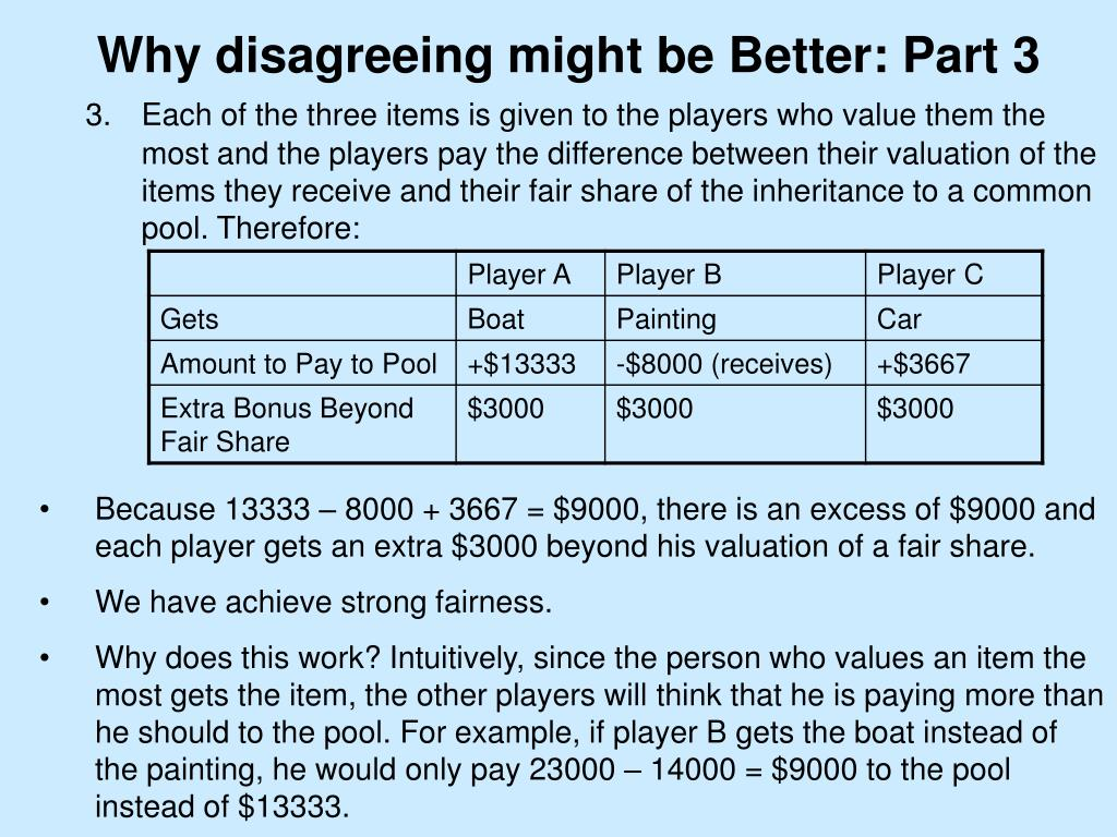 Why disagreeing might be Better: Part 3