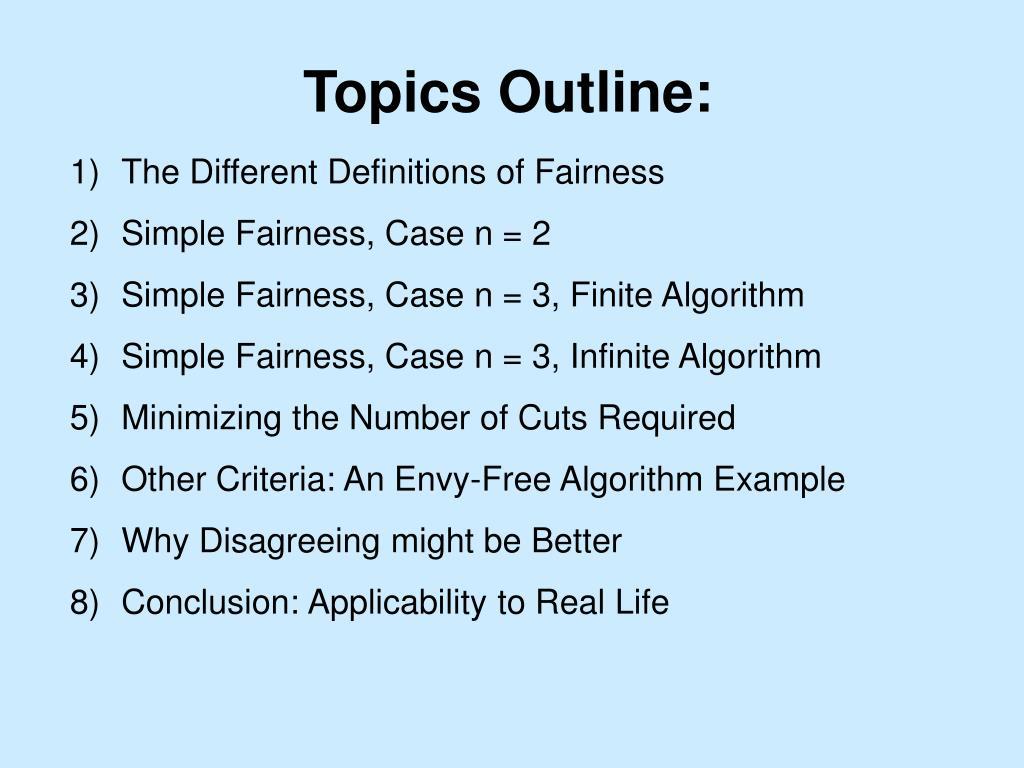 Topics Outline: