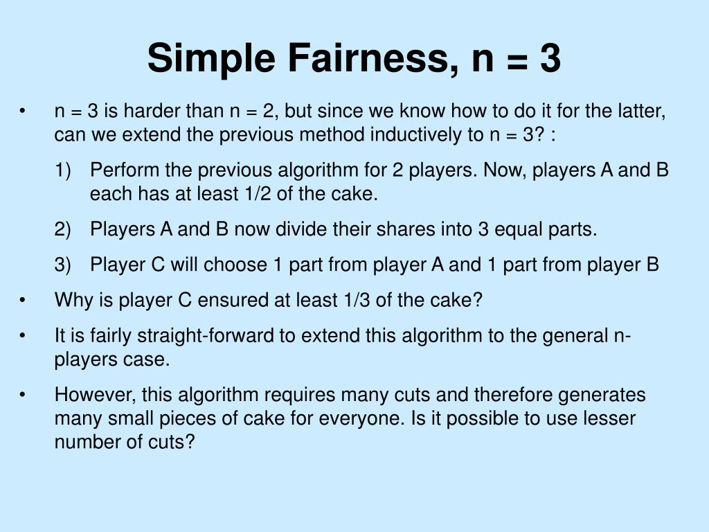 Simple Fairness, n = 3