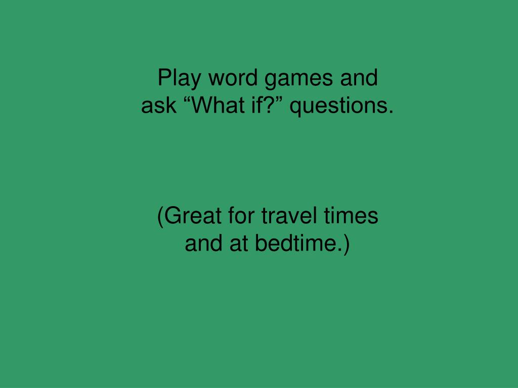 Play word games and