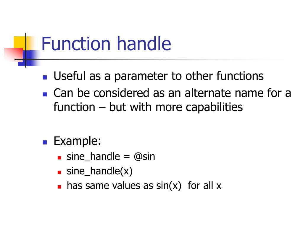 Function handle
