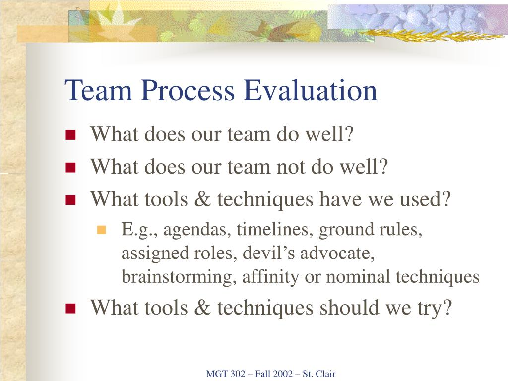 Team Process Evaluation