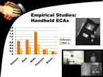 empirical studies handheld ecas