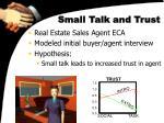 small talk and trust
