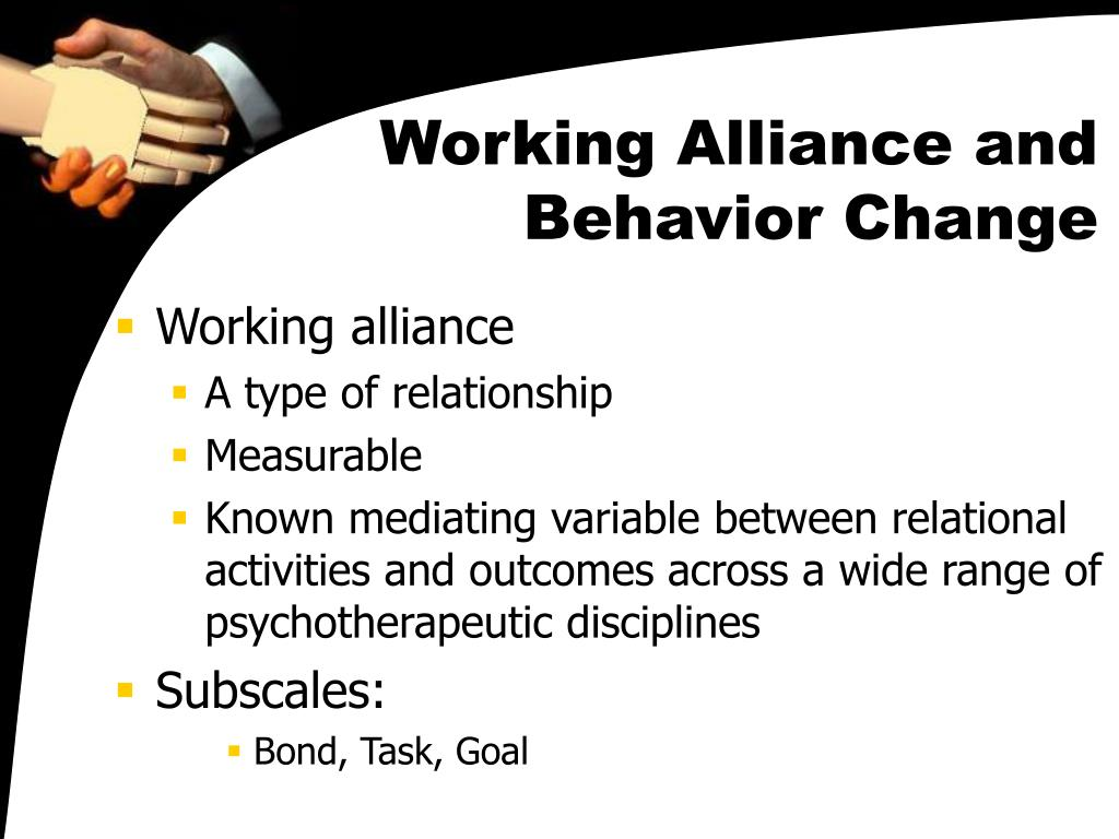 Working Alliance and