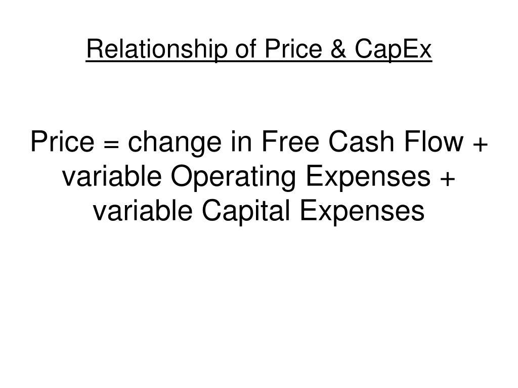 Relationship of Price & CapEx