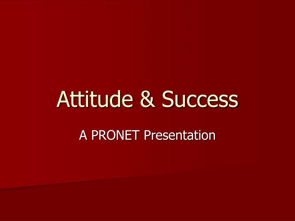 attitude success
