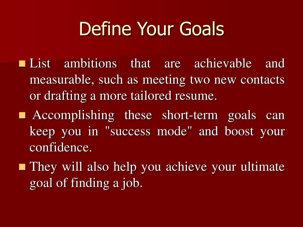 Define Your Goals