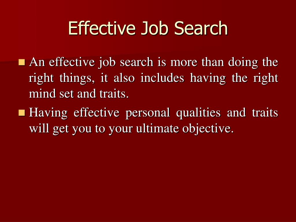 Effective Job Search