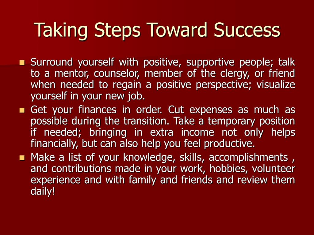 Taking Steps Toward Success