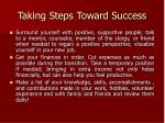 taking steps toward success