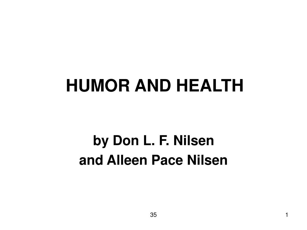 HUMOR AND HEALTH