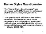 humor styles questionnaire