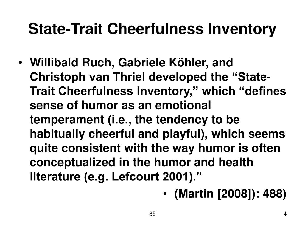 State-Trait Cheerfulness Inventory