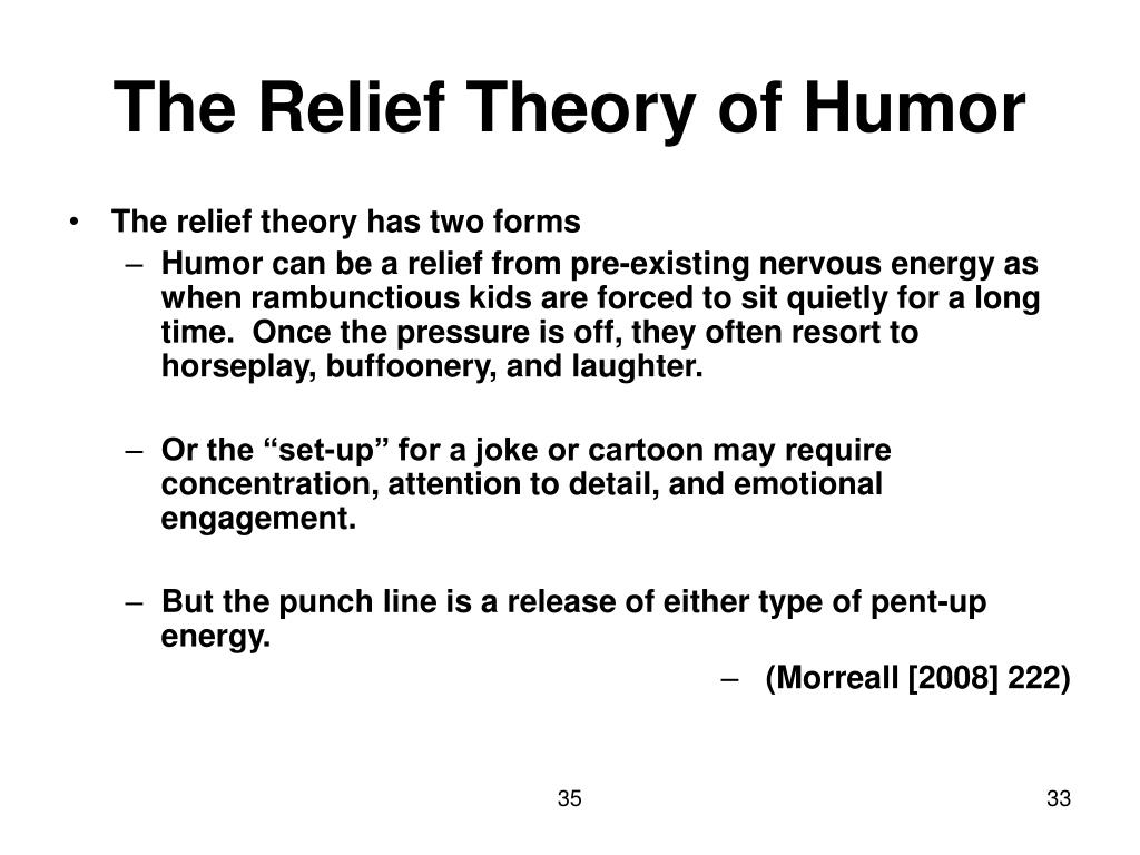 The Relief Theory of Humor