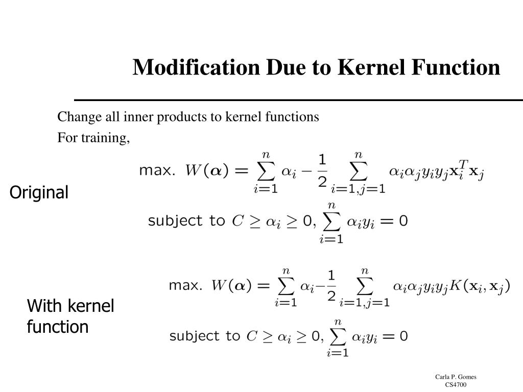 With kernel function