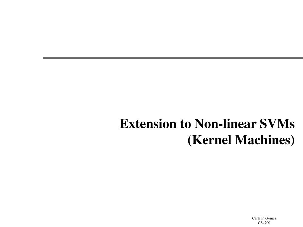 Extension to Non-linear SVMs