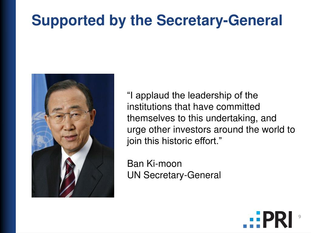 Supported by the Secretary-General