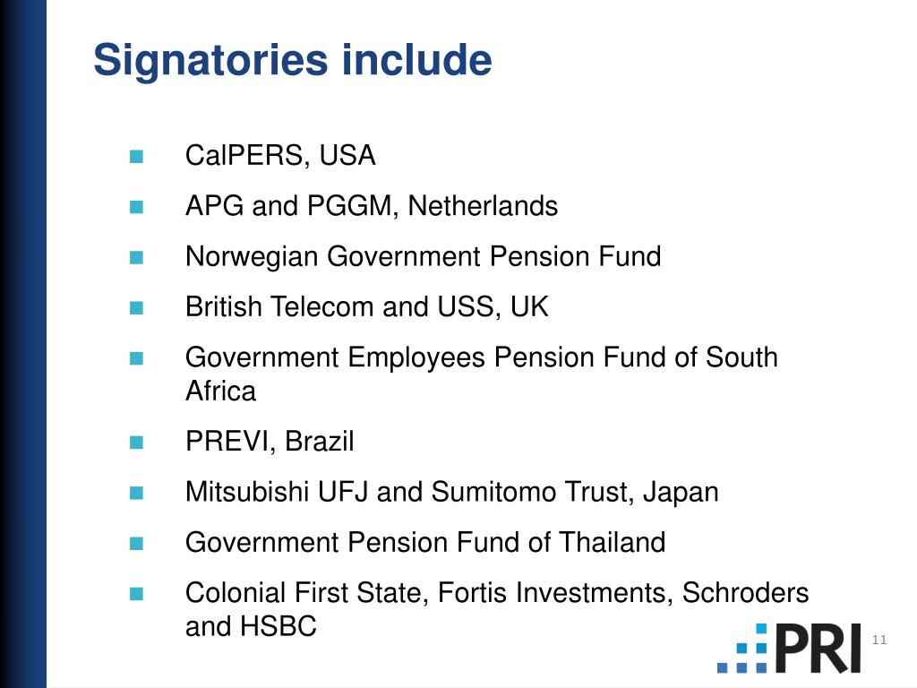 Signatories include