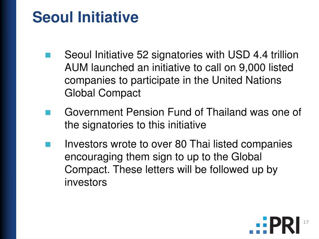 Seoul Initiative