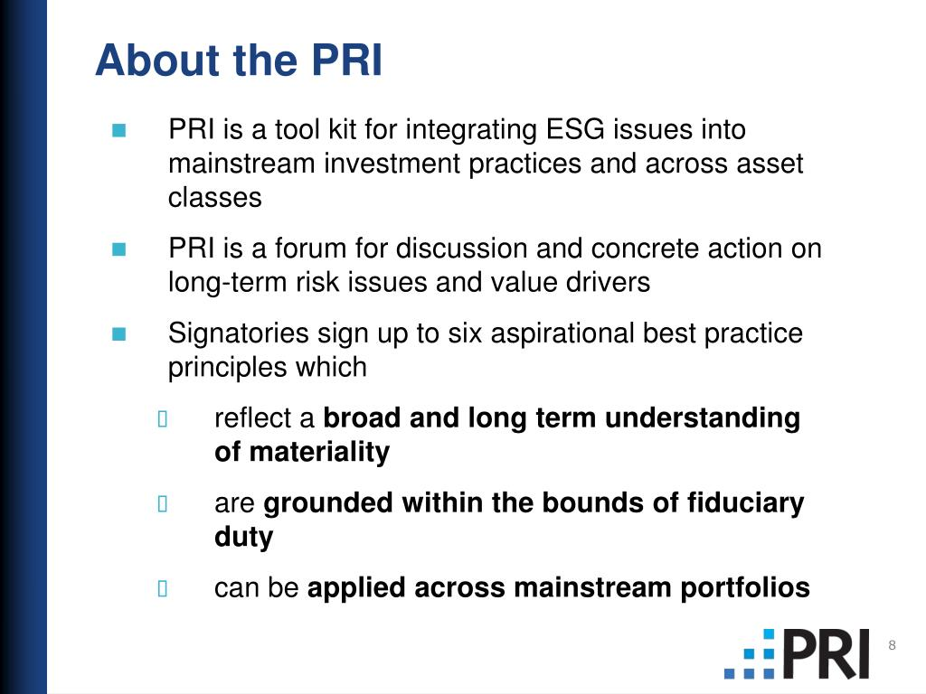 About the PRI