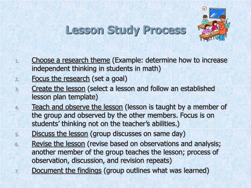 Lesson Study Process