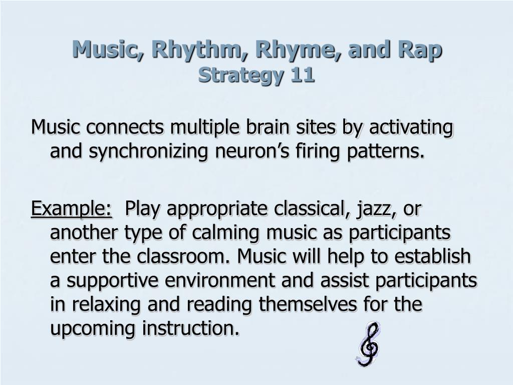 Music, Rhythm, Rhyme, and Rap
