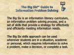 the big six guide to information problem solving