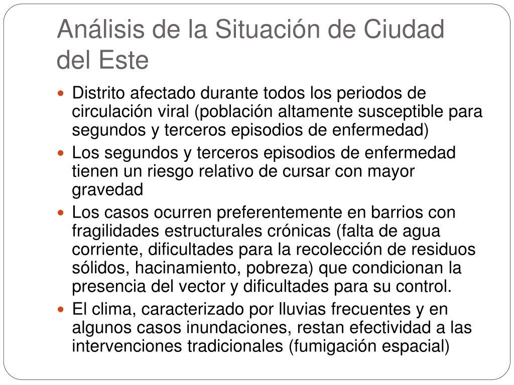 Análisis de la Situación de Ciudad del Este