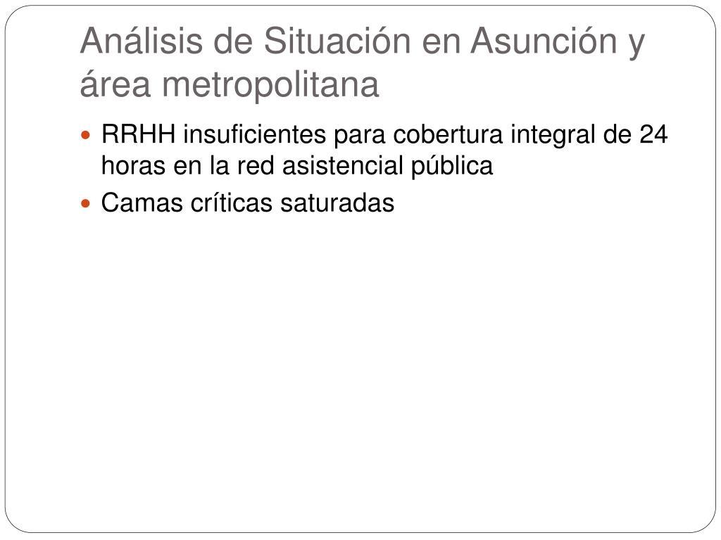 Análisis de Situación en Asunción y área metropolitana